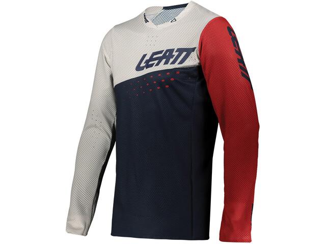 Leatt DBX 4.0 Ultraweld Jersey Men, azul/blanco